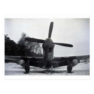 P 51 Mustang Battle of the Bulge Postcard