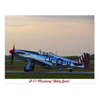P-51 Mustang Betty Jane Postcard