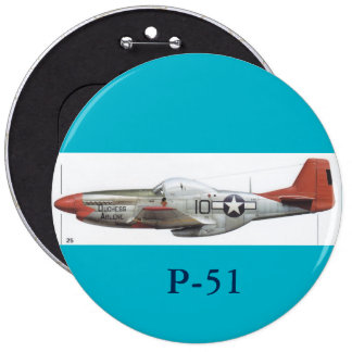 P-51 MUSTANG BUTTON