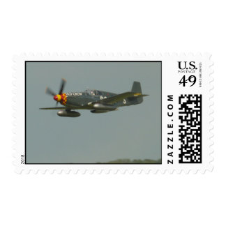 P-51 mustang called old crow postage