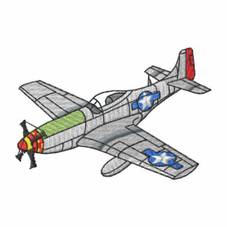 P-51 Mustang Embroidered Polo Shirt