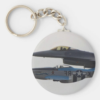P-51 MUSTANG & F-16 EAGLE KEY CHAINS