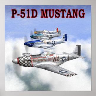 P-51 MUSTANG FLIGHT POSTER