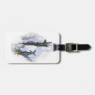 P-51 Mustang flying escort Bag Tag