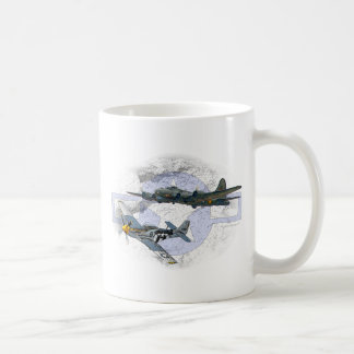 P-51 Mustang flying escort Coffee Mug