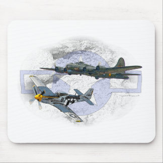 P-51 Mustang flying escort Mouse Pad
