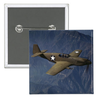 P-51 Mustang in Flight, 1942 2 Inch Square Button