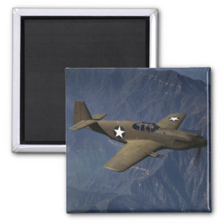 P-51 Mustang in Flight, 1942 2 Inch Square Magnet