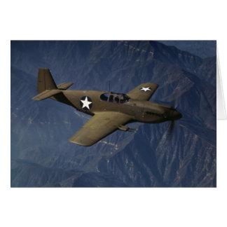 P-51 Mustang in Flight, 1942 Greeting Card