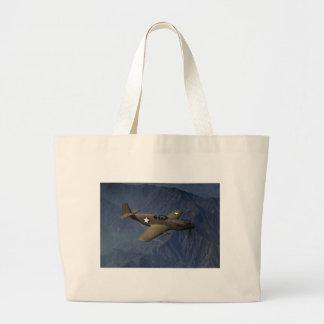 P-51 Mustang in Flight, 1942 Jumbo Tote Bag