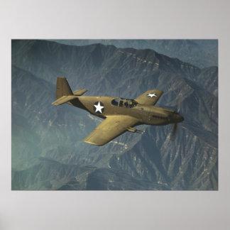P-51 Mustang in Flight Poster