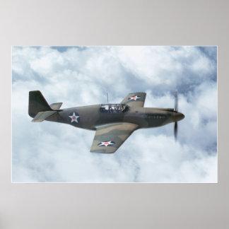 """""""P-51 Mustang Mk1"""" Print"""