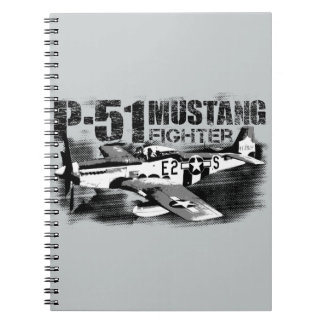 P-51 Mustang Photo Notebook (80 Pages B&W)
