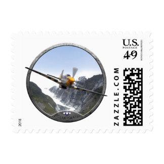 P-51 Mustang Postage Stamp