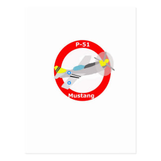 p-51 Mustang Postcard