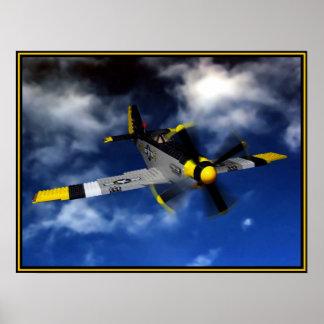 P 51 Mustang Print