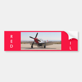 P-51 Mustang Red Tail, RED, TAIL Bumper Sticker