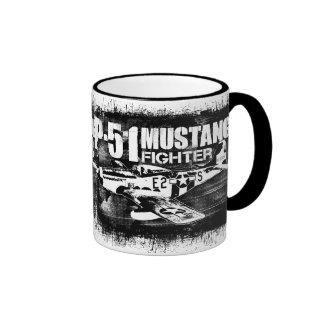 P-51 Mustang Ringer Coffee Mug