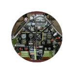 P-51 MUSTANG ROUND WALL CLOCKS