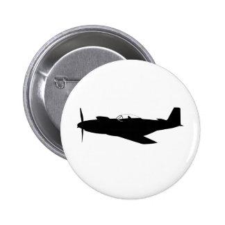 P-51 Mustang Silhouette Pinback Button