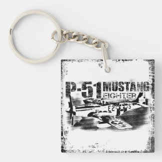P-51 Mustang Square (double-sided) Keychain
