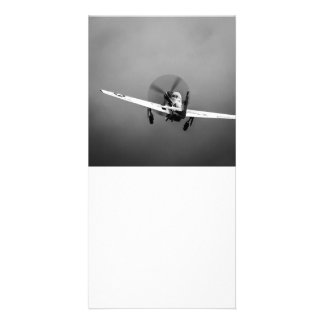 P-51 Mustang takeoff in storm Card