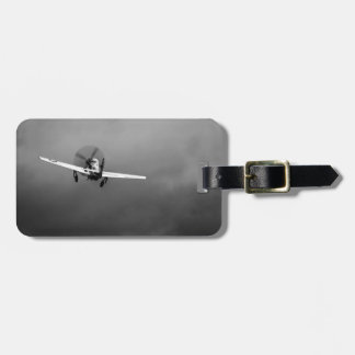 P-51 Mustang takeoff in storm Luggage Tag