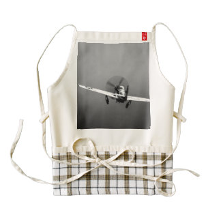 P-51 Mustang takeoff in storm Zazzle HEART Apron