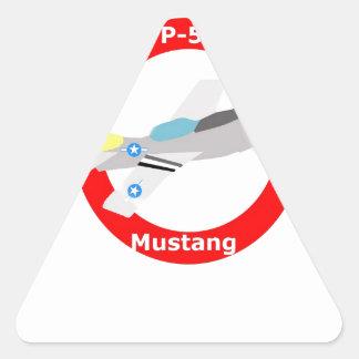 p-51 Mustang Triangle Sticker