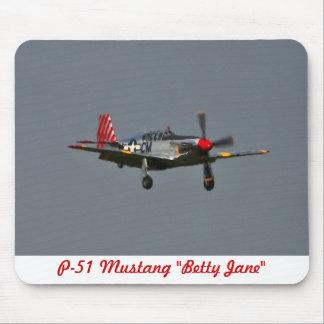 P-51 mustango Betty Jane Mousepad
