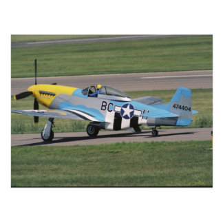 P-51 norteamericano D que deslumbra a Donna en Tarjeta Postal