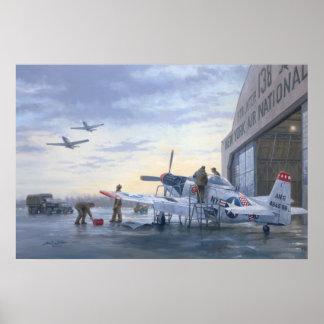 """P-51's on Runway Alert poster 24""""x36"""