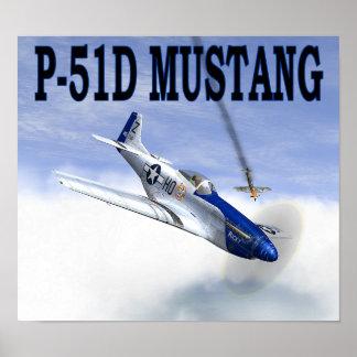 P-51 vs BF109 POSTER