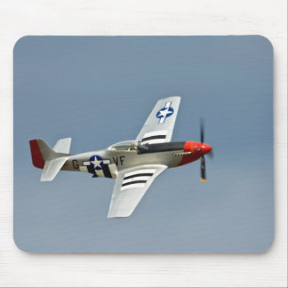 P-51D Mustang Fighter with D-Day markings flying Mouse Pad