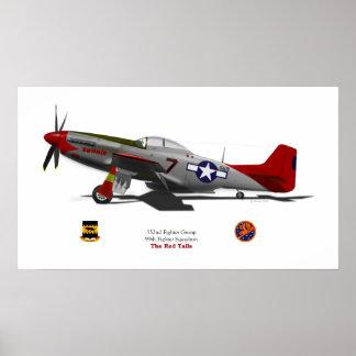 P-51Dtuskegee Impresiones
