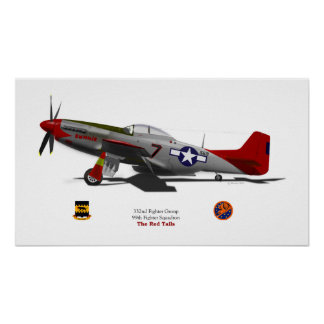 P-51Dtuskegee Poster