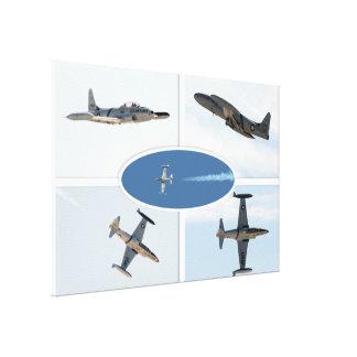 P-80 Shooting Star 5 Plane Set Canvas Print