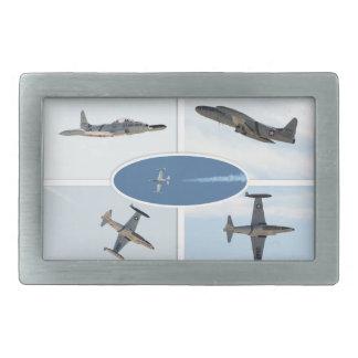 P-80 Shooting Star 5 Plane Set Rectangular Belt Buckle
