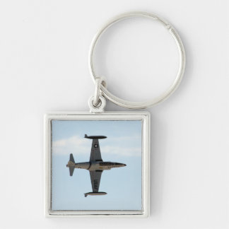 P-80 Shooting Star Silver-Colored Square Keychain