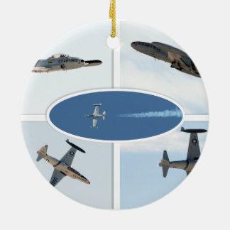 P-80 sistema del avión de la estrella fugaz 5 ornamente de reyes