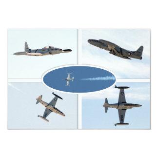 """P-80 sistema del avión de la estrella fugaz 5 invitación 3.5"""" x 5"""""""