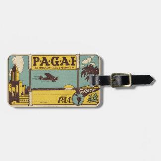 P.A.A. Etiqueta retra del equipaje Etiquetas Maletas