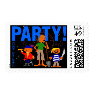 P-A-R-T-Y-! POSTAGE STAMPS