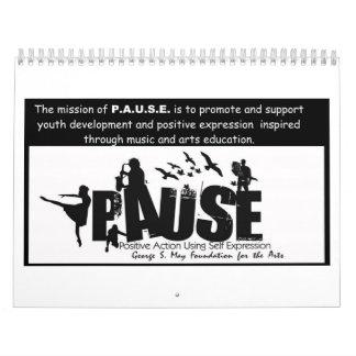 P.A.U.S.E. calendario de ocho meses