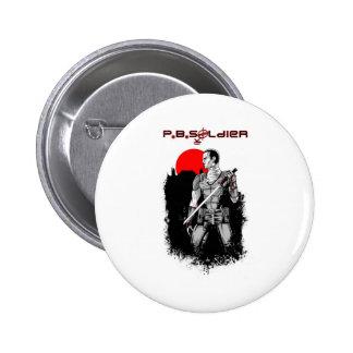 P B Soldier Pin