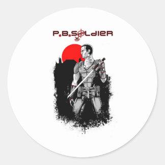 P B Soldier Stickers