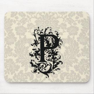 P Baroque monogram Mouse Pad