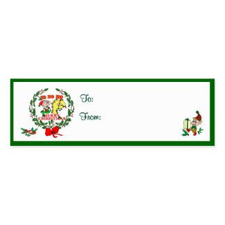 P - CHRISTMAS ELF MONOGRAM GIFT TAGS BUSINESS CARDS