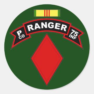 P Co, 75th Infantry Regiment - Rangers, Vietnam Classic Round Sticker