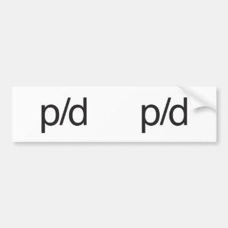 p:d.ai bumper stickers